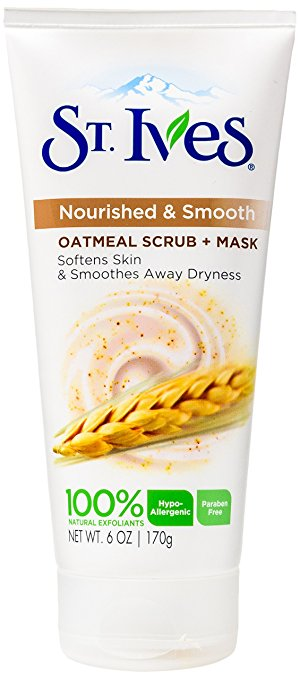 St. Ives Nourished & Smooth Face Scrub and Mask, Oatmeal 6 oz